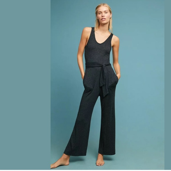 undefeated x dirt cheap better price Anthropologie Cloth & Stone Black Jumpsuit XL NWT